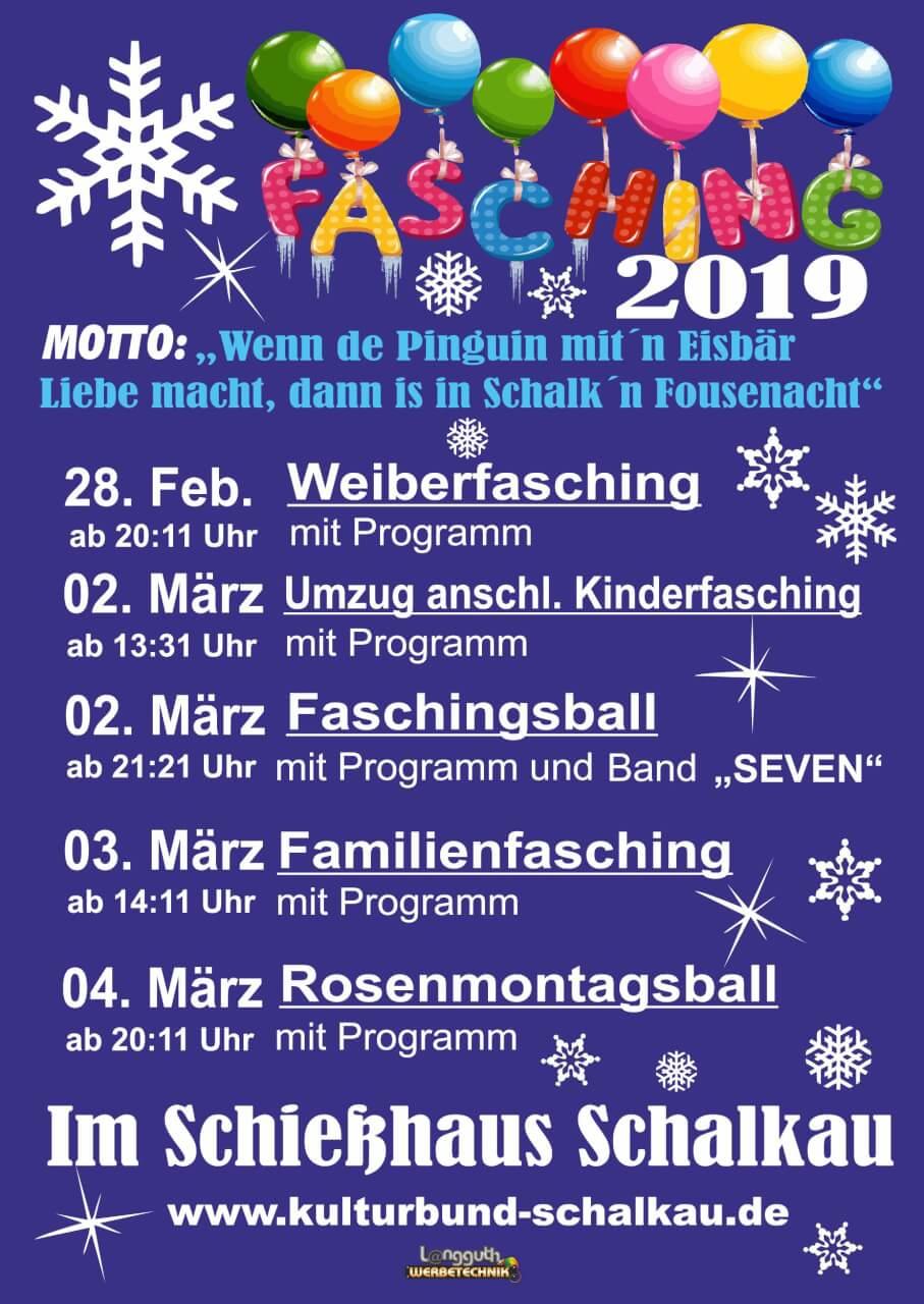 Fasching 2019 Kulturbund Schalkau E V